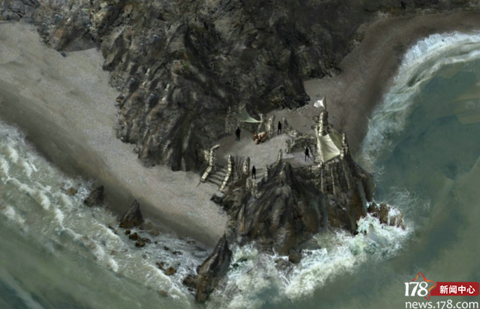 这就是那本画集的一张原画,后来被做成了POE的地图